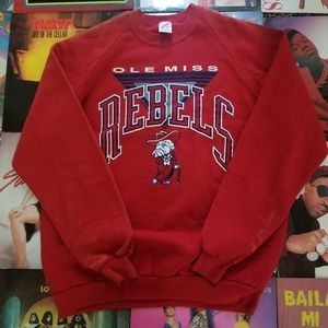 VINTAGE OLE MISS COLONEL REB SWEATER